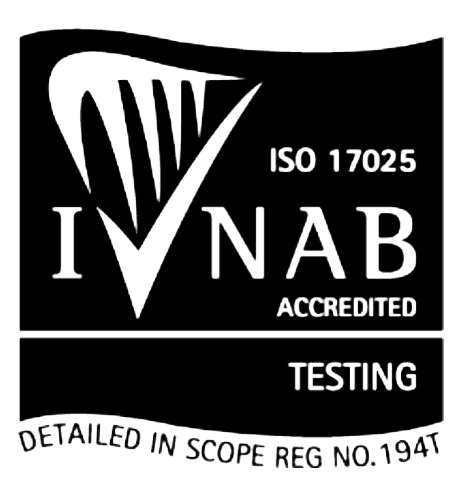 INAB Accredited ISO 17025 TESTING